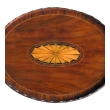 a handsome english george III style oval inlaid tray on stand