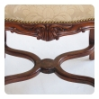 elegant french regence style carved walnut serpentine-shaped stool with cut-suede upholstery