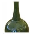 """a monumental and impressive american 1960's 41"""" high olive-green glazed bottle-form floor vase/urn"""