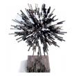 a vibrant 1970's iron sculpture entitled 'super nova'