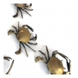 charming set of five vintage american brass crabs with articulated arms