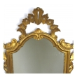 a shapely italian rococo style carved giltwood mirror with openwork rocaille crest