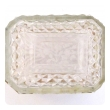 antique baccarat diamond-cut crystal vanity box with doré bronze mounts