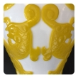 a good quality pair of chinese imperial yellow over white baluster-form vases