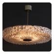 cool 8-light chandelier by Carl Fagerlund for Orrefors Glassworks, Sweden 1960's