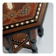intricately inlaid anglo indian octagonal side/tea table with brass inlay