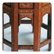 ntricately inlaid anglo indian octagonal side/tea table with brass inlay