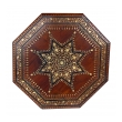 large and intricately inlaid anglo indian octagonal side table with brass inlay