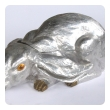 delightful and large-scaled american polished aluminum and brass rabbit wine cooler/ice  bucket by arthur court, san francisco
