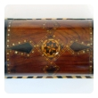 well-crafted and richly-patinated syrian inlaid trinket box with domed lid