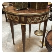 elegant french louis xvi style mahogany circular side table with brass mounts