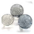 Shimmering Set of Three Vintage Murano Bubble Orb-form Paperweights