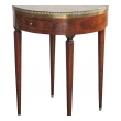 elegant french directoire circular bouillotte table with fossilized marble top