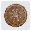 an intricately inlaid anglo indian circular traveling table on an octagonal base
