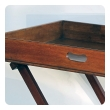large and good quality english regency mahogany butler's tray on stand