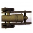 a finely rendered pair of english victorian brass ornamental signal cannons on cast iron carriages