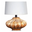 a richly-colored american 1960's gourd-form drip-glaze lamp