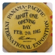 A San Francisco Panama Pacific Exposition of 1915 Souvenir Banner with Opening Day Button