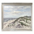 oil on board: Impressionist Seascape Painting signed 'Hugo Melville Fisher'