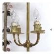 Large French Louis XVI Style Bronze Doré 4-light Lantern with applied Porcelain Flowers