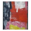 oil on board; A Colorful American Mid-century Abstract Expressionist Painting