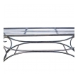 Curvaceous French 1950's Raw Iron Curule-form Bench with Incurved Arms