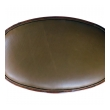 Handsome Italian Neoclassical Style Carved Walnut Oval-form Stool