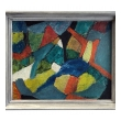 Oil on Artist Board: A Colorful American Mid-century Abstract Expressionist Painting