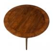 Classic Mid-century Robsjohn-Gibbings for Widdicomb Round Walnut Klismos Sabre-leg Table
