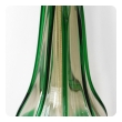 Pair of Murano 1960's Art Glass Lamps with Applied Green Decoration