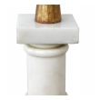 Classically-inspired Italian 1950's Carrara Marble Columnar Lamp