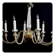 an elegant murano 1950's champagne-colored glass 8-light chandelier