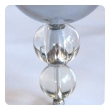 a shimmering and stylish french art deco 6-light chrome chandelier with stacked glass spheres