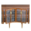 sophisticated american mid-century modern walnut 4-door credenza/sideboard