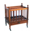 handsome english edwardian single drawer canterbury/magazine rack