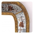 well-executed french 1940's Maison Jansen eglomise  and giltwood wall mirror