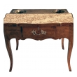 an exceptionally large french provincial beechwood single-drawer rafraichissoir/wine cooler