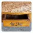 french provincial beechwood single-drawer rafraichissoir/wine cooler