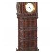 A Charming English Folk Art Carved Wooden Big Ben Clock