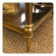 Good Quality 1960's Maison Jansen Gilt-Bronze and Mirrored 2-Tier Coffee Table