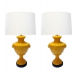 Classically-inspired Italian 1960's Urn-form Lamps with Lion Mask Motifs