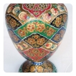 a vibrant and unusual pair of kashmiri papier mâché polychromed urns