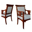 a rare pair of french art nouveau carved mahogany armchairs