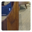 handsome and good quality pair of french empire walnut sleigh beds with giltwood hairy paw feet