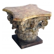 well-carved italian neoclassical corinthian capital with faux marble top; ex-collection Tony Duquette