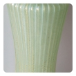 a good quality set of 4 murano mid-century celery-green ribbed glass and gold aventurine lamps by barovier & toso
