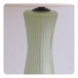 good quality pair of murano mid-century celery-green ribbed glass and gold aventurine lamps by barovier & toso
