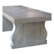 a large and impressive french carved limestone trestle table with lyre-form supports