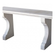 handsome carved french limestone neoclassical style indoor/outdoor wall console table