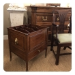 unusually large english late George III Mahogany single-drawer Canterbury